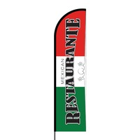 Mexican Restaurant Flex Banner Flag - 16ft (Single Sided)