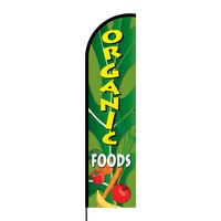 Organic Foods Flex Banner Flag - 16ft (Single Sided)