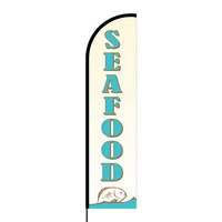 Seafood Flex Banner Flag - 16ft (Single Sided)