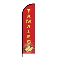 Tamales Flex Banner Flag - 16ft (Single Sided)