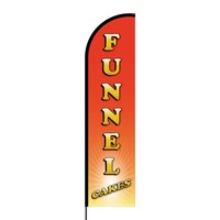Funnel Cakes Flex Banner Flag - 16ft (Single Sided)