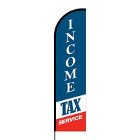 Income Tax Services Flex Banner Flag - 16ft (Single Sided)