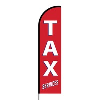Tax Services Flex Banner Flag - 16ft (Single Sided)
