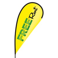 Free Rent Flex Blade Flag - 09' Single Sided