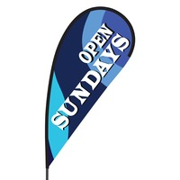 Open Sundays Flex Blade Flag - 09' Single Sided