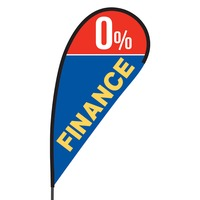 0% Financing Flex Blade Flag - 09' Single Sided