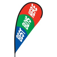 Best Buys Here Flex Blade Flag - 09' Single Sided