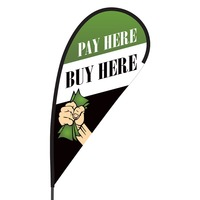 Buy Here Pay Here Flex Blade Flag - 09' Single Sided