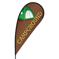Campgrounds Flex Blade Flag - 09' Single Sided