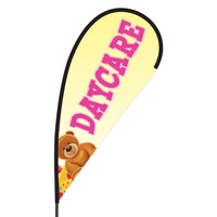 Daycare Flex Blade Flag - 09' Single Sided