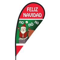 Feliz Navidad Flex Blade Flag - 09' Single Sided