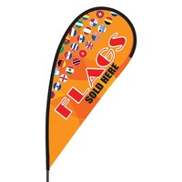 Flags Sold Here Flex Blade Flag - 09' Single Sided