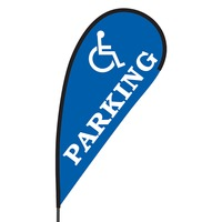 Handicap Parking Flex Blade Flag - 09' Single Sided