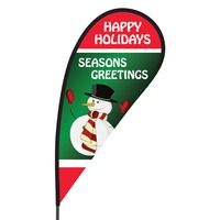 Happy Holidays Flex Blade Flag - 09' Single Sided