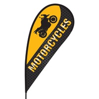 Motorcycle Flex Blade Flag - 09' Single Sided