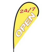 Open 24/7 Flex Blade Flag - 09' Single Sided
