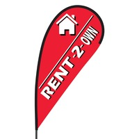 Rent 2 Own Flex Blade Flag - 09' Single Sided