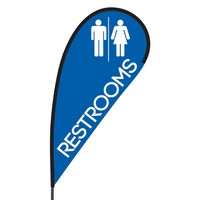 Restrooms Flex Blade Flag - 09' Single Sided