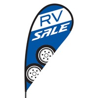 RV Sale Flex Blade Flag - 09' Single Sided