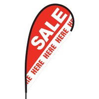 Sale Here Flex Blade Flag - 09' Single Sided