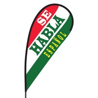 Se Habla Espanol Flex Blade Flag - 09' Single Sided