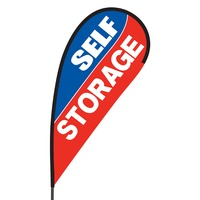 Self Storage Flex Blade Flag - 09' Single Sided