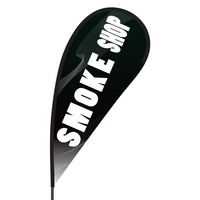 Smoke Shop Flex Blade Flag - 09' Single Sided