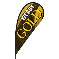 We Buy Gold Flex Blade Flag - 09' Single Sided