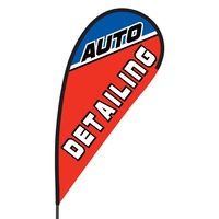 Auto Detailing Flex Blade Flag - 09' Single Sided