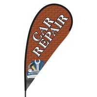 Car Repair Flex Blade Flag - 09' Single Sided