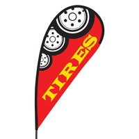 Tires Flex Blade Flag - 09' Single Sided