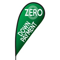 Zero Down Payment Flex Blade Flag - 09' Single Sided