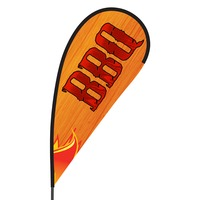 BBQ Flex Blade Flag - 09' Single Sided
