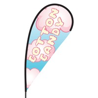 Cotton Candy Flex Blade Flag - 09' Single Sided