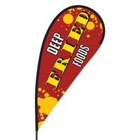 Deep Fried Foods Flex Blade Flag - 09' Single Sided