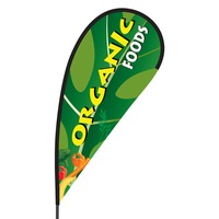 Organic Foods Flex Blade Flag - 09' Single Sided