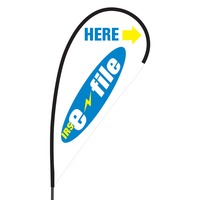eFile Flex Blade Flag - 09' Single Sided