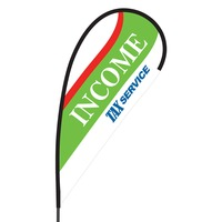 Income Tax Flex Blade Flag - 09' Single Sided