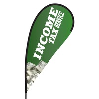 Income Tax Service Flex Blade Flag - 09' Single Sided