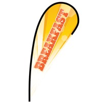 Breakfast Flex Blade Flag - 12'