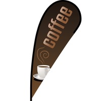 Coffee Flex Blade Flag - 12'