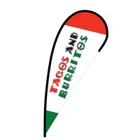 Tacos and Burritos Flex Blade Flag - 12'