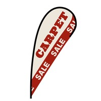 Carpet Sale Flex Blade Flag - 12'