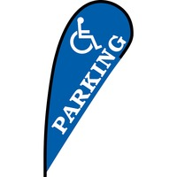 Handicap Parking Flex Blade Flag - 12'