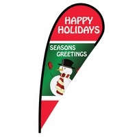 Happy Holidays Flex Blade Flag - 12'