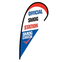 Official Smog Station Flex Blade Flag - 12'