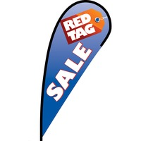 Red Tag Sale Flex Blade Flag - 12'