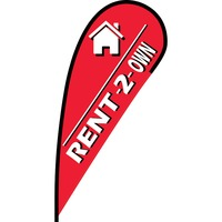 Rent to Own Flex Blade Flag - 12'