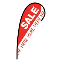 Sale Here Flex Blade Flag - 12'