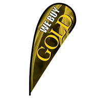 We Buy Gold Flex Blade Flag - 12'
